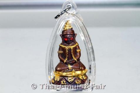 Teilvergoldetes Pho Nagng Taa Daeng Thai Amulett