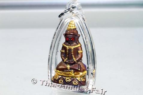 Teilvergoldetes Pho Nagng Taa Daeng Thai Amulett - Vorschau 4