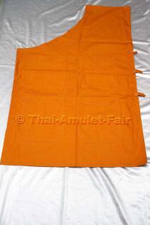 Original thailändische Angsak Phra (Mönchs-/Arbeitsweste) mit 4 Taschen und seitlichem Knopfverschluss.