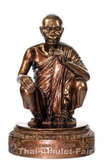 Luang Pho Koon Statue von 1993 - Original Thai Tempel Statue aus dem Wat Banrai