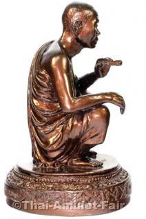 Luang Pho Koon Statue von 1993 - Original Thai Tempel Statue aus dem Wat Banrai - Vorschau 3
