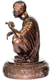 Luang Pho Koon Statue von 1993 - Original Thai Tempel Statue aus dem Wat Banrai - Vorschau 4