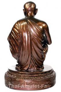 Luang Pho Koon Statue von 1993 - Original Thai Tempel Statue aus dem Wat Banrai - Vorschau 2