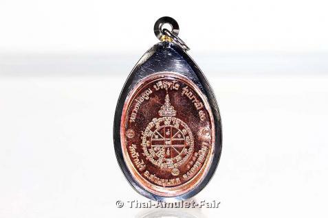 Luang Pho Koon Thai Amulett Phra Rian Ruun Baramee 90 Nuea Thong Daeng vom 10.04.2013. Nummerierte Kleinserie, hier angeboten wird das Amulett mit der Nummer 1237. - Vorschau 2