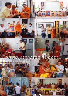 Thai Amulett Phra Rian Ruun Baramee 90 Nuea Thong Fa Bath Thai Amulett des ehrwürdigen Luang Pho Koon Parisuttho (Phra Thep Vitthayakom), Abt des Wat Banrai in Korat, Isaan, Nordostthailand vom 10.04.2013 - Vorschau 4