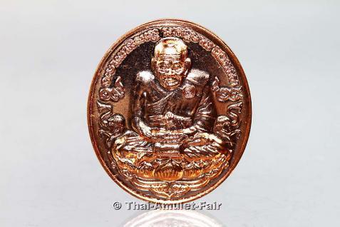 Geweihtes Thai Amulett Luang Phu Thuad - Die letzte Sonderserie seiner Heiligkeit Somdej Phra Sangkarat dem 19. Supreme Patriarchen von Thailand. Herausgegeben anlässlich seines 100. Geburtstages, nur 21 Tage später verging er. - Vorschau 2