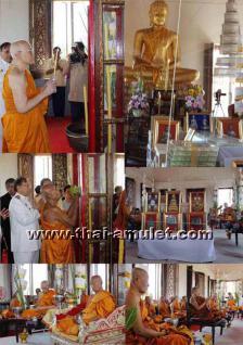 Luang Pho Koon Thai Amulett Phra Rian Ruun Baramee 90 Nuea Thong Daeng vom 10.04.2013. Nummerierte Kleinserie, hier angeboten wird das Amulett mit der Nummer 1237. - Vorschau 4