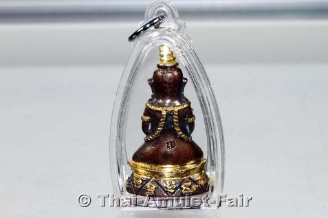 Teilvergoldetes Pho Nagng Taa Daeng Thai Amulett - Vorschau 2