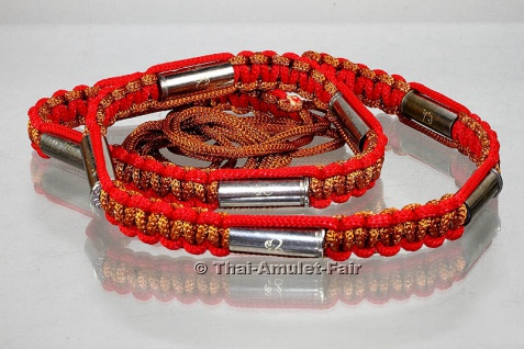 Luang Pho Rid Schutzamulett Takrut Gürtel Kaliber .38 Special hergestellt.