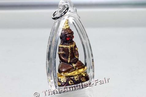 Teilvergoldetes Pho Nagng Taa Daeng Thai Amulett - Vorschau 3