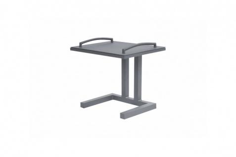 Aluminium Beistelltisch Easy mit abnehmbaren Tablett lava