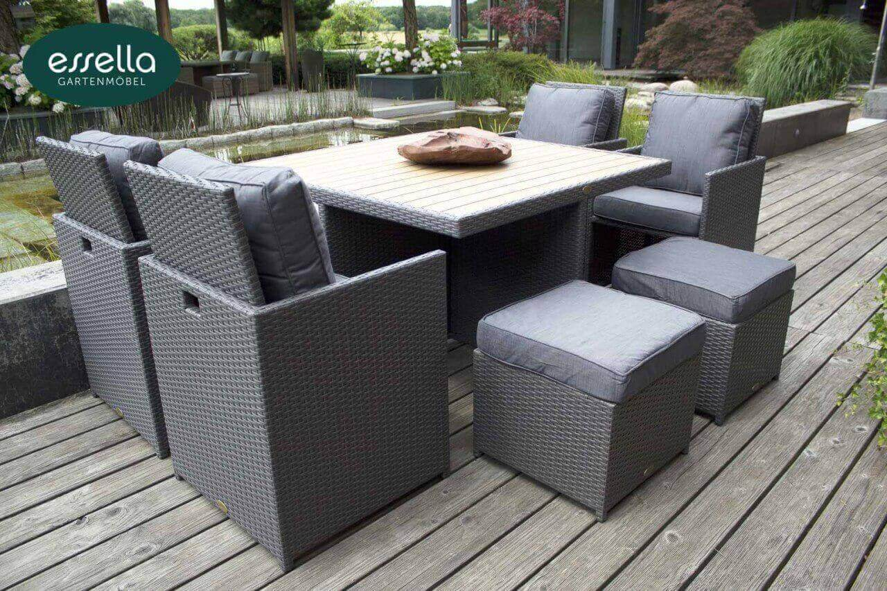 polyrattan sitzgruppe vienna 4 personen polywood flachgeflecht kaufen bei too design gmbh. Black Bedroom Furniture Sets. Home Design Ideas