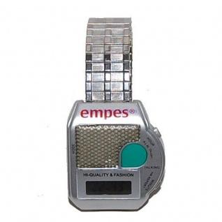 sprechende Uhr Blindenuhr Armbanduhr Wecker Alarm 6694 Flexarmband