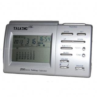 sprechende Uhr Blindenuhr Tischuhr sprechender Wecker Alarm 8805