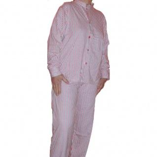 flotter Damen-Schlafanzug Pyjama Gr. 34/36 grau/pink