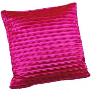 2 x Kissenbezug Kissenhülle 40 x 40 pink - Vorschau 1