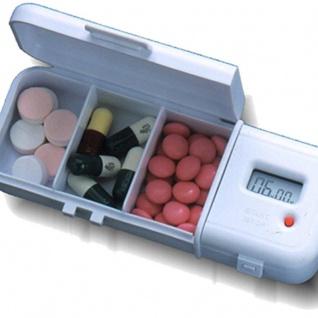 digitalePillenbox Pill-Reminder Pillendose mit Erinnerungssignal, flexible Zeiteinstellung