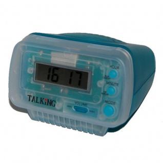 sprechende Uhr Blindenuhr Tischuhr sprechender Wecker Alarm 6656