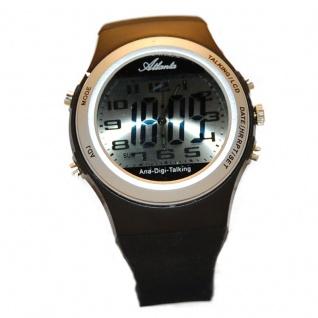 sprechende Uhr Armbanduhr Blindenuhr Wecker Alarm analoge und digitala Anzeige WA281B
