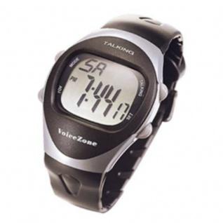 sprechende digitale Armbanduhr Blindenuhr 4fach Alarm Wecker 9910