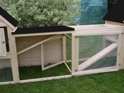 hasenstall kaninchenstall doppel tweety kaufen bei ronalds holzladen. Black Bedroom Furniture Sets. Home Design Ideas