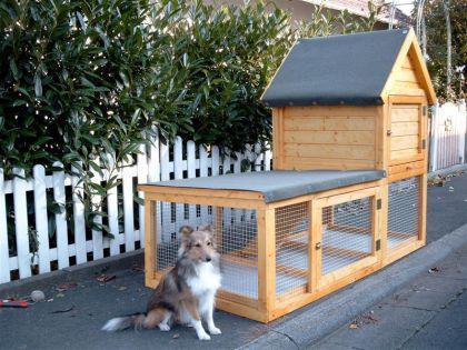 hasenstall kaninchenstall fiver kaufen bei ronalds holzladen. Black Bedroom Furniture Sets. Home Design Ideas