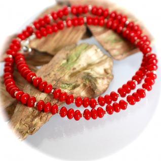 Kette Halskette Bambus Koralle 925er Sterlingsilber Unikat - Vorschau 2