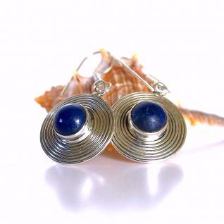 Ohrringe 925er Sterling Silber mit Lapislazuli