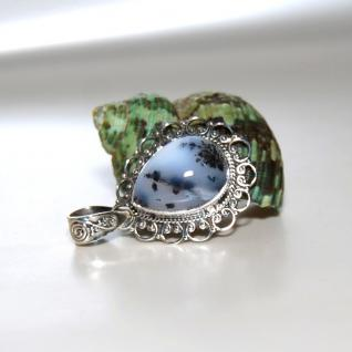 Anhänger 925er Sterling Silber Dendriten Opal