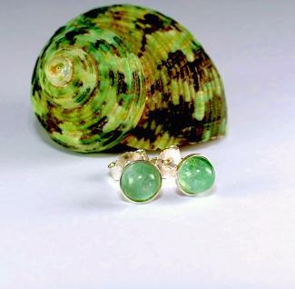 Ohrstecker 925er Sterling Silber Turmalin grün