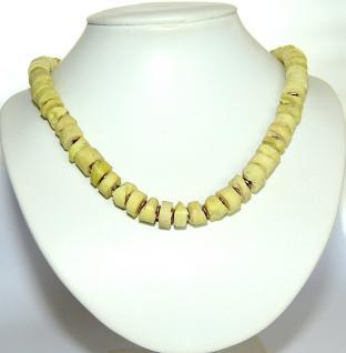 Kette Serpentin Rohsteine 925er Sterling Silber vergoldet