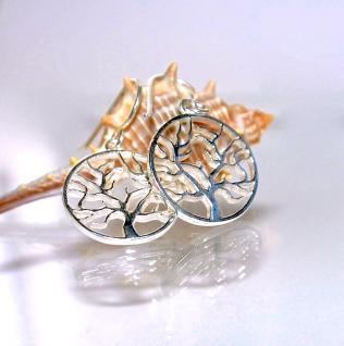 Ohrringe 925er Sterling Silber Baum des Lebens