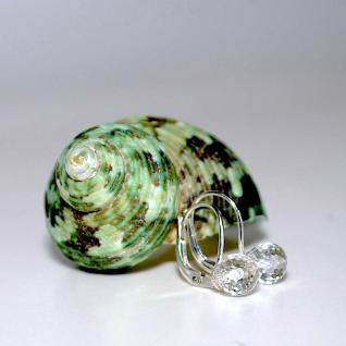 Ohrringe 925er Sterlingsilber Bergkristall facettiert