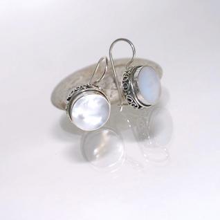 Ohrringe 925er Sterlingsilber Perlmutt Weiß