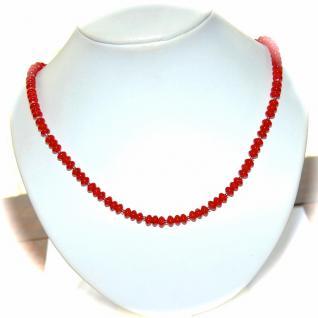 Kette Halskette Bambus Koralle 925er Sterlingsilber Unikat - Vorschau 3