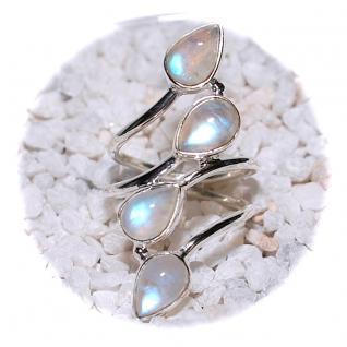 Ring 925er Sterling Silber mit Regenbogen Mondstein Gr. 18 (57) - Vorschau 2
