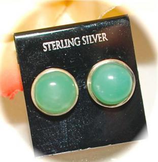 Ohrstecker 925er Sterling Silber Chrysopras