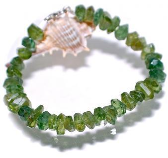 Armband Apatit grün facettiert Silber