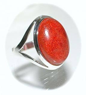 Ring 925er Sterlingsilber Koralle