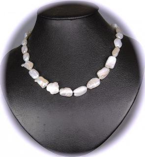Kette Keshi Perlen Barock Weiß 925er Sterlingsilber - Vorschau 3