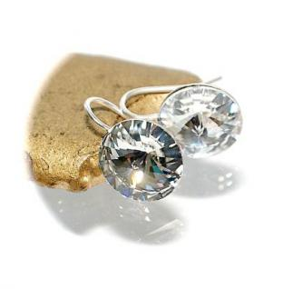 Ohrringe 925er Sterlingsilber mit Original Swarovski Elements 10 mm