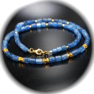 Kette Halskette Disthen Kyanit Top Qualität 925er Sterlingsilber vergoldet