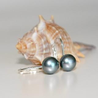 Ohrringe verschließbar 925er Sterlingsilber Zuchtperle