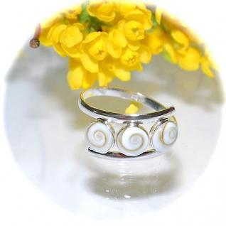 Ring 925er Sterlingsilber Turbanschnecke Operculum