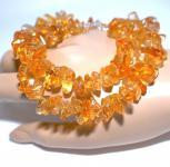 Kette Halskette Citrin Nuggets goldfarben 925er Sterlingsilber