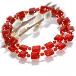 Kette Halskette Carneol Rot 925er Sterlingsilber