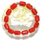 Armband Koralle 925er Sterlingsilber elastisch