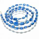 Kette Halskette Disthen Kyanit A-Qualität 925er Sterlingsilber