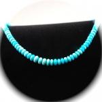 Kette Halskette Türkis Sleeping Beauty Qualität 925er Sterlingsilber Unikat