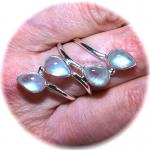 Ring 925er Sterling Silber mit Regenbogen Mondstein Gr. 18 (57)